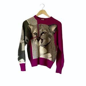 RARE Vintage Krizia Maglia Animal Print Sweater